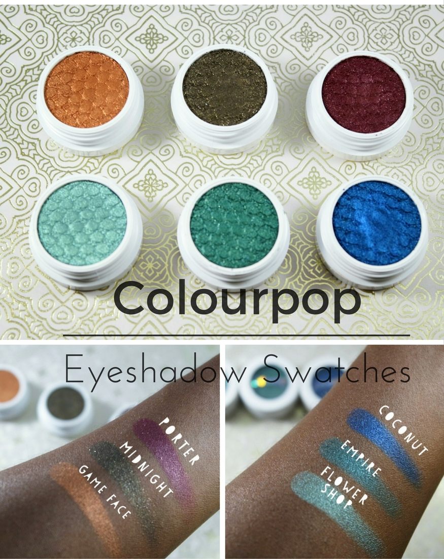 Colourpop Super Shock Eyeshadow Swatches