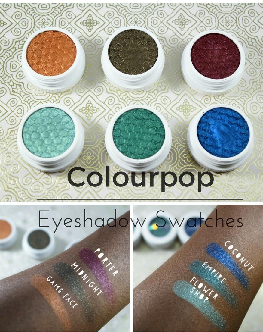 Colourpop Super Shock Eyeshadow Swatches