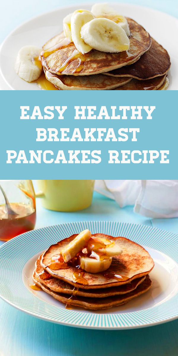 Easy Healthy Breakfast Pancakes Recipe for Busy Morning. Banana and Almond Butter Pancakes - With only three ingredients, these flapjacks couldn't be easier.  #healthy #pancakes #breakfast #recipe #breakfastpancakes #healthypancakes #bananapancakes #almond #almondjoy #almondpancakes #almondbutter #banana