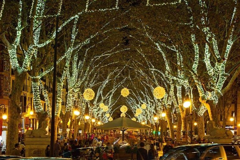 Luces de navidad en Palma