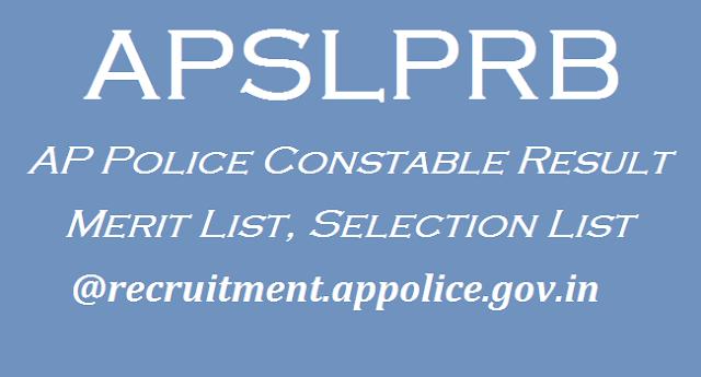 AP State, AP Recruitment, AP Results, AP Police, APSLPRB, AP Merit List, Selection List, AP Results, AP State Level Police Recruitment Board, AP Notifications