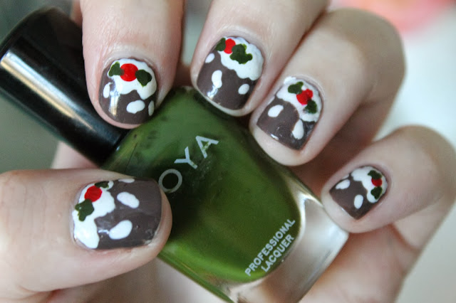 How To: Christmas Nail Art #1 Christmas Puddings