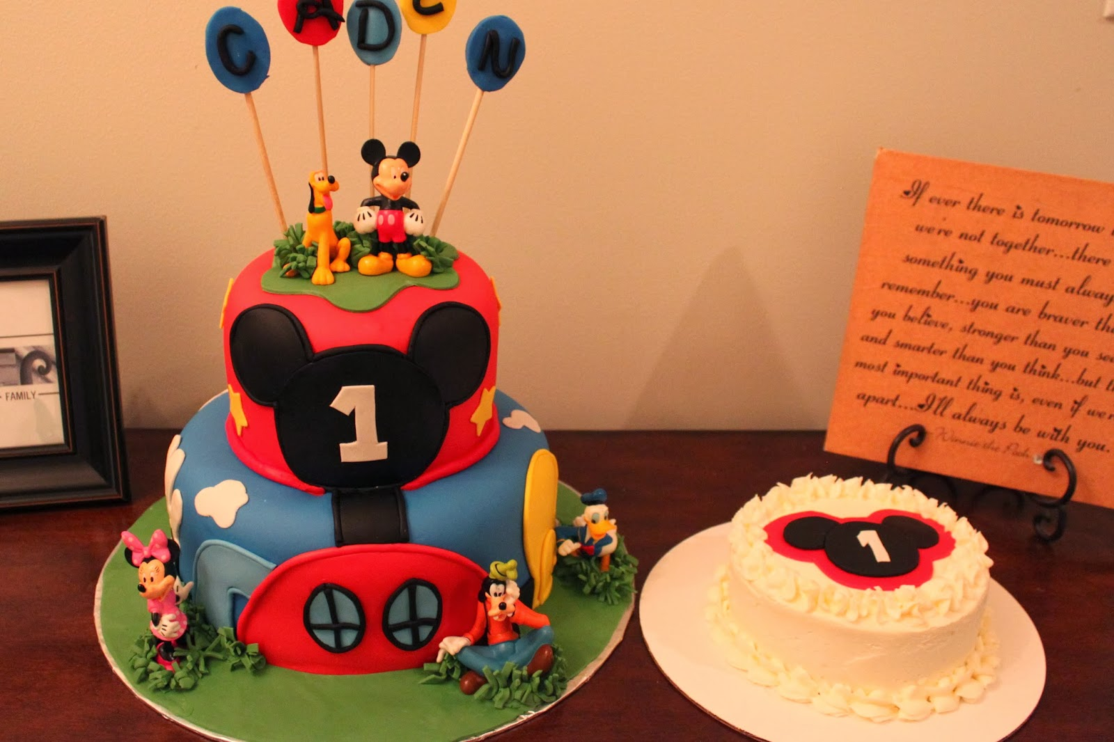 Mickey Mouse Clubhouse And Smash Cake