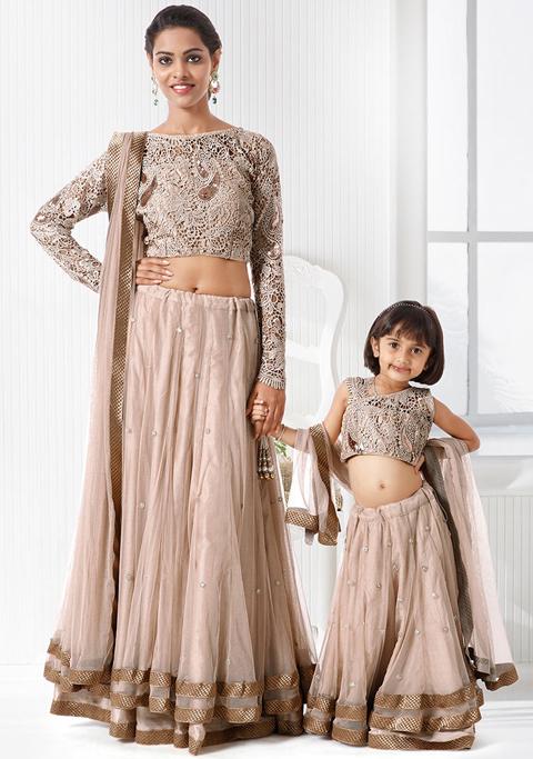 baju sari india ibu dan anak
