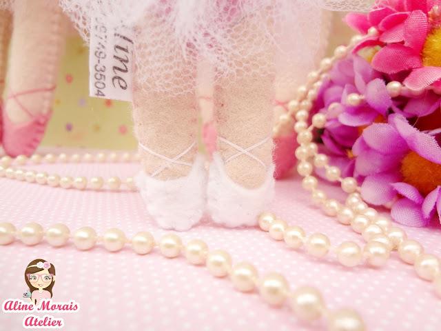 bailarina de feltro para decoração lembrança lembrancinha centro de mesa