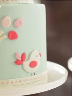 kue ulang tahun fondant karakter burung
