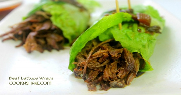 Slow Cooker Beef Lettuce Wraps Recipe