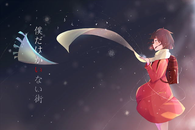 Tapeta przedstawiająca Hinazuki i jej szal