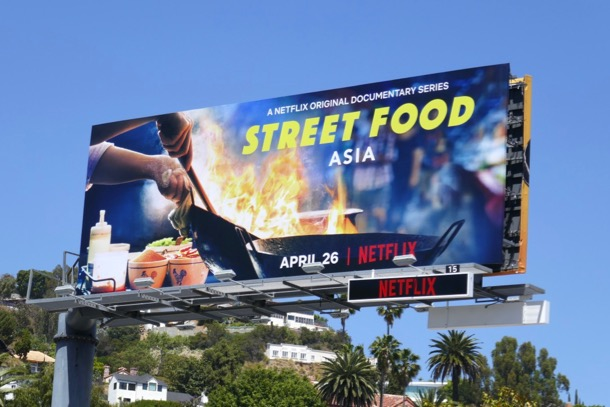 Street Food Asia series billboard