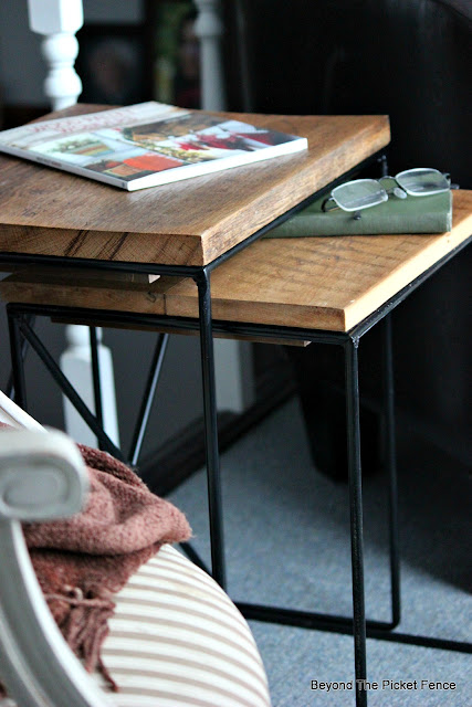 upcycle modern nesting tables with reclaimed barn wood
