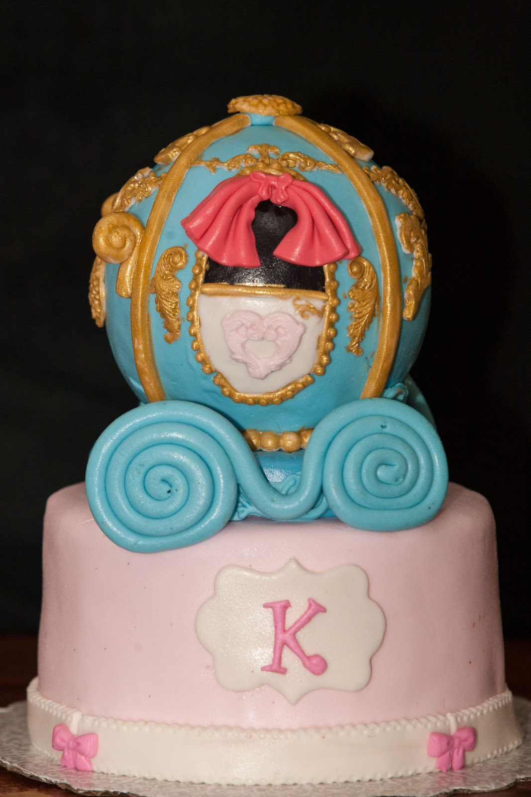 Cinderella Carriage Theme Fondant Cake All Edible Cakes By Edilyn