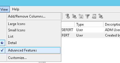 Active Directory Attribute Editor tab missing – Make search