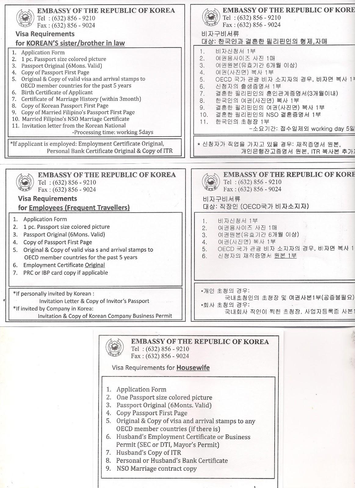 Sample Invitation Letter For Tourist Visa To South Korea Sample