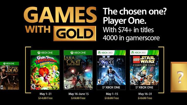 Anunciados los Games With Gold de mayo