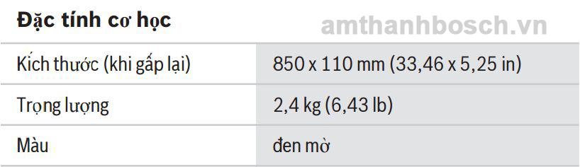 Thông số kĩ thuật Chân đế đặt Sàn LBC 1221/01