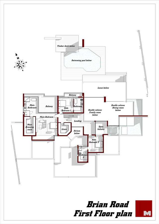 Renovated house first floor plan