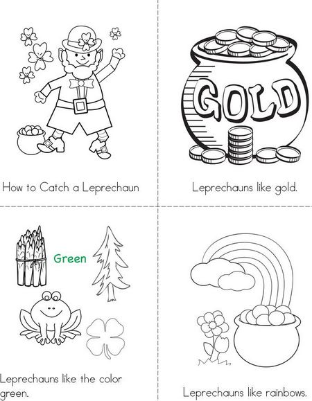 Happy St Patricks Day coloring page for kida