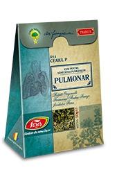 Imaginea cutiei ceaiului Pulmonar - medicament 100% natural pentru sanatatea sistemului respirator