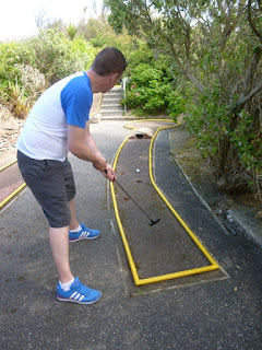 Crazy Golf course at Newquay Football Golf on Porth Island
