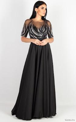 Vestidos negro con blanco