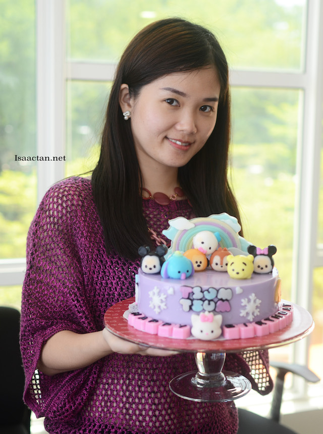 Janice, with her Tsum Tsum Jelly Cake