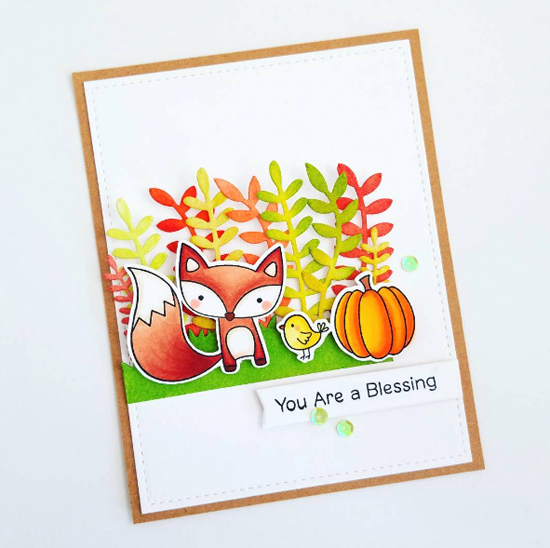 Fall Friends stamp set and Die-namics - Amy Yang #mftstamps