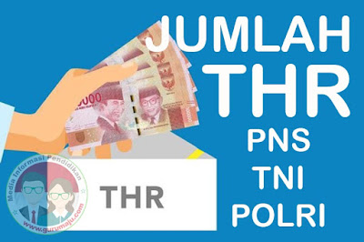 Besaran THR PNS, TNI dan POLRI Tahun 2019 Berdasarkan PP Nomor 36 Tahun 2019