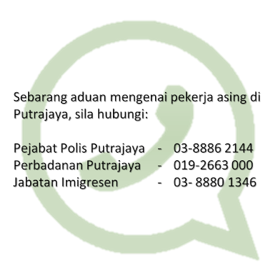 No Aduan Pekerja Asing Putrajaya
