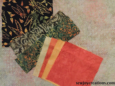 Quilter's soup challenge fabrics