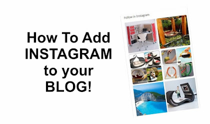 Cara memasang widget Instagram ke Blog Blogger