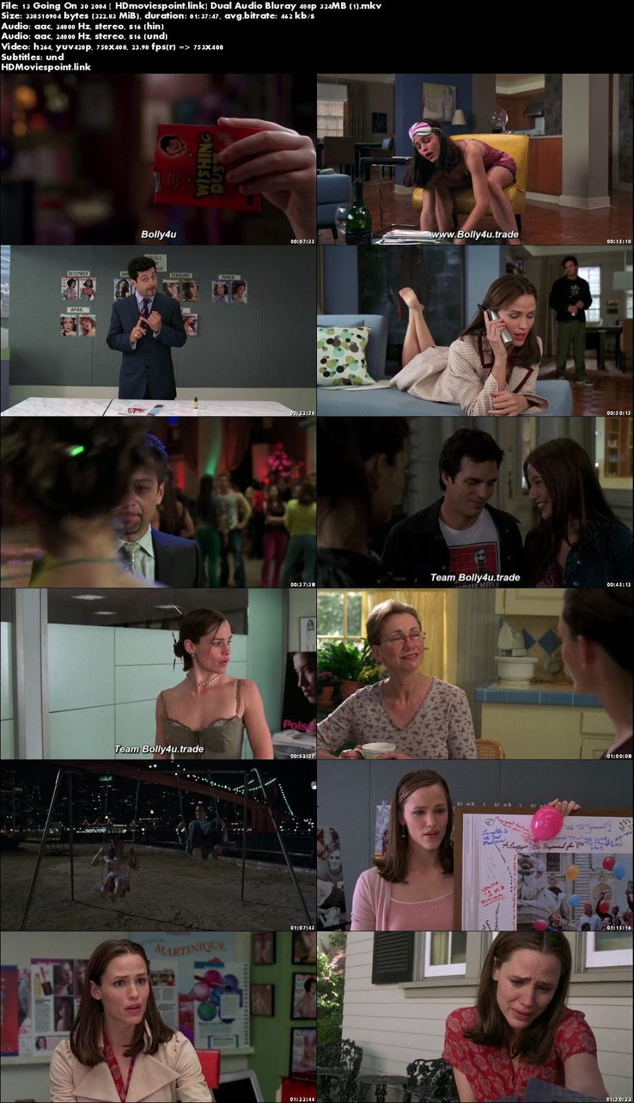 screen shot 13 Going on 30 2004 Full Movie Download Dual Audio 720p