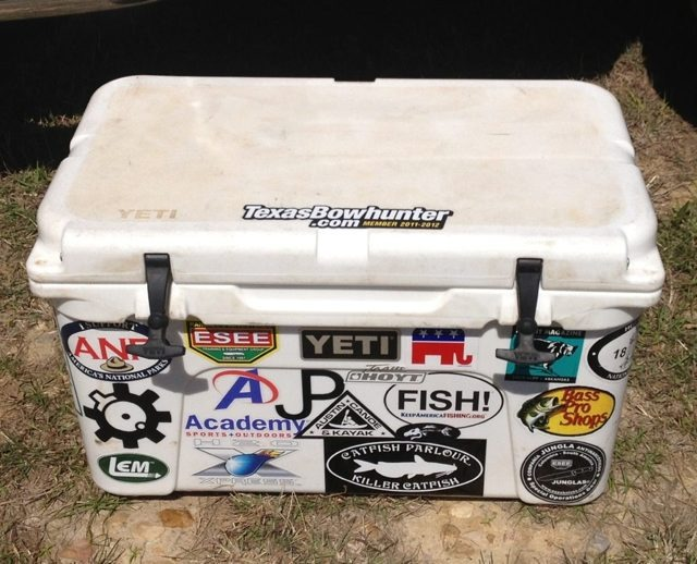 Supposedly the cool thing to do with yeti coolers is to put a few super cool stickers on them kinda like a guitar case but only the coolest of cool