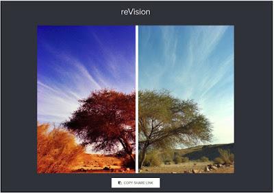 خدمة reVision تسمح لك بمشاركة الصور قبل وبعد التعديل