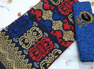 Kain Batik dan Embos 108 Pekalongan motif Prada Biru
