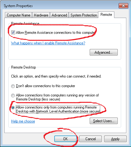 Cara Setting Remote Desktop Connection Windows 7