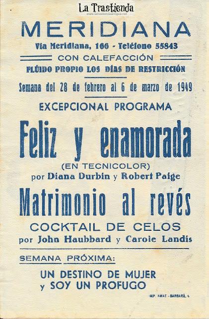 Matrimonio al Revés - Programa de Cine - Carole Landis - John Hubbard - Mary Astor