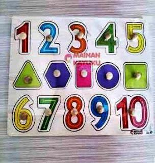 Knop Angka Puzzle TK PAUD