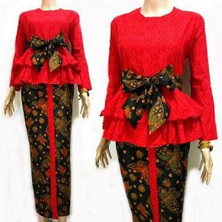 contoh model baju kurung batik