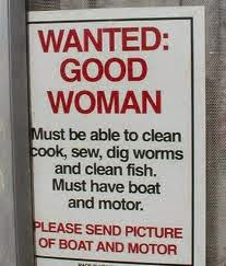 Funny wanted: good woman sign picture