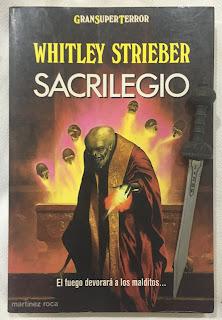Portada del libro Sacrilegio, de Whitley Strieber