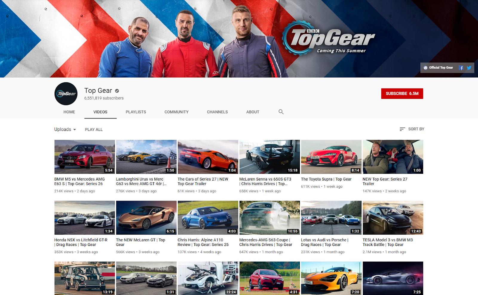 Top Gear YouTube topgear .com