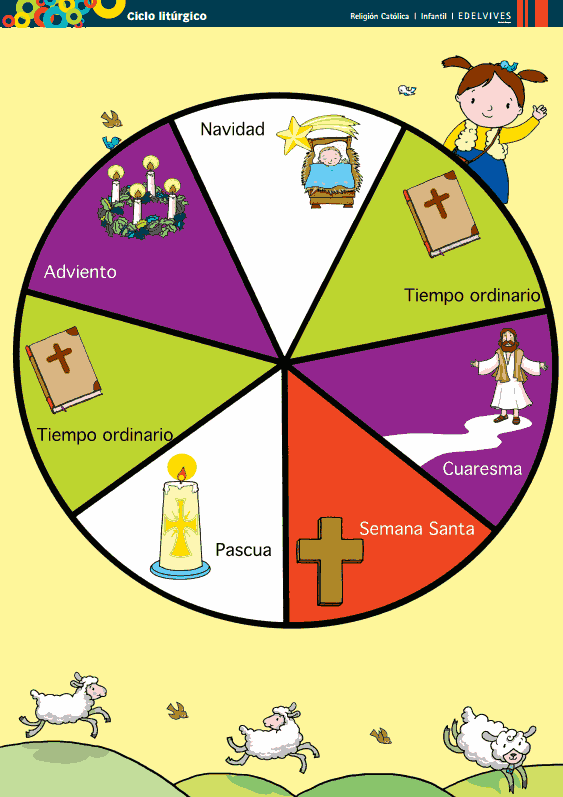 Resultado de imagen para imagen del año liturgico 2016 para niños