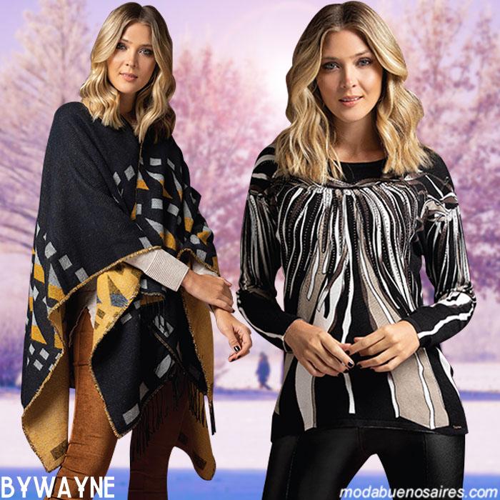 Ponchos, blusas y pantalones otoño invierno 2019. Moda invierno 2019 mujer argentina.