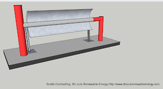Concentrated Solar Power with Heat Recovery Unit Designed by Scotts Contracting 11/01/2011