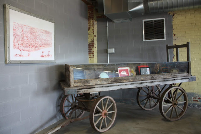 Interesting artifacts from the past history of the old bakery building in Alton, Illinois