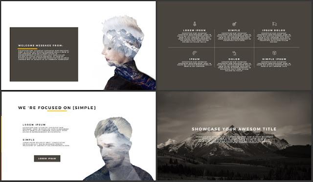 Desktop Screen Mock-up and Multi - Purpose Free PowerPoint Template [SIMPLE] Slides 5-8