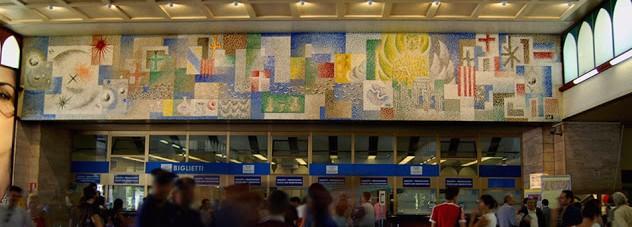 Mosaic by Mario Deluigi and Anton Giulio Ambrosini, Railway Station, Venice