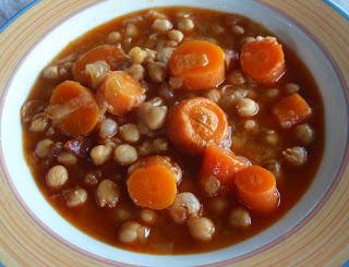 garbanzos con zanahorias