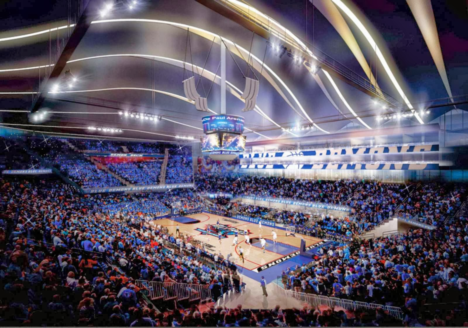Architecture now and the future depaul university for Design hotels arena