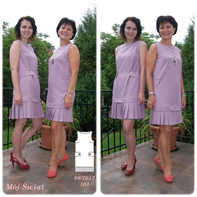 Sukienka z Burda 06/2012
